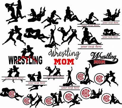 Wrestling Clipart Mom Wrestler Woman Wrestlers Svg