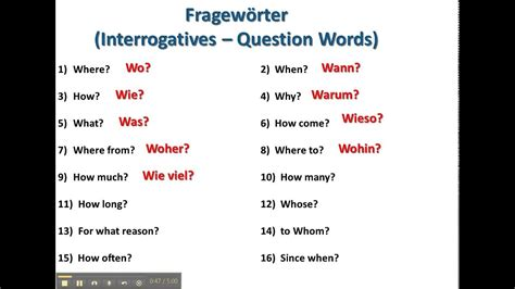 question words  german wwwgermanforspaldingorg youtube
