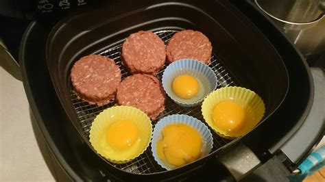 airfryer burger beef eggs patties decision purchased recently second