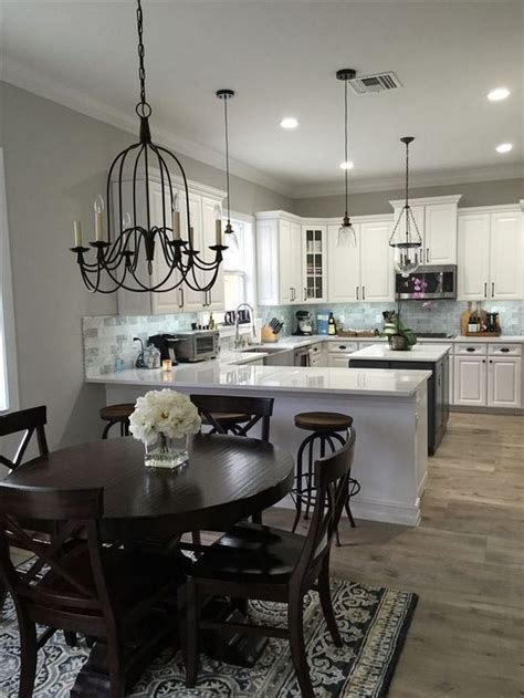 kitchen dining room combo small layout  story