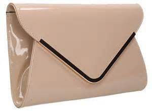 clutch satin pink billie envelope patent clutch bag