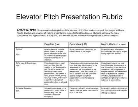 pitch template elevator pitches exles sales mktg