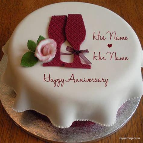 write    wedding anniversary cake profile pic