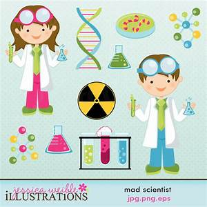 Mad Scientist clipart set comes with 10 graphics including ...