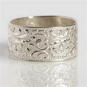 filigree engagement ring settings items similar to wide silver ring decorated with tribal symbols yahely wedding ring for