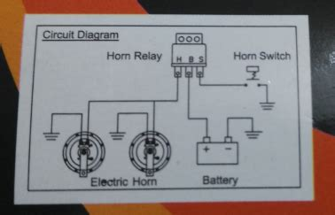 Electrical Wiring Pin Relay Power Dual Horn