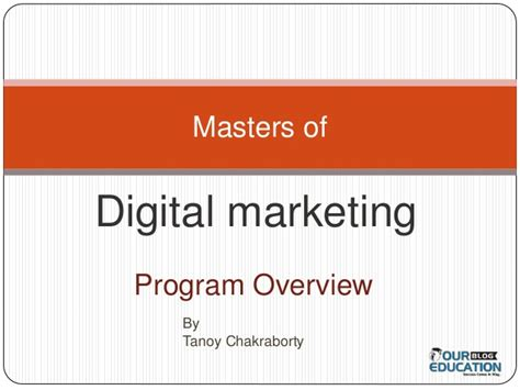 master digital marketing digital marketing master s program overview