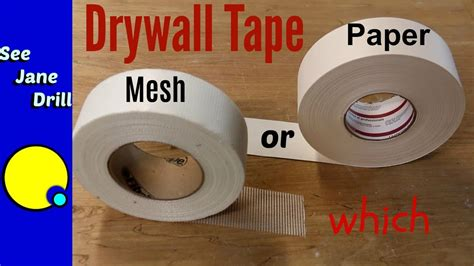 Which Drywall Tape Is Better Paper Or Mesh? Youtube
