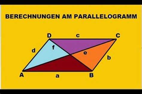 video parallelogramm diagonale berechnen  gehts