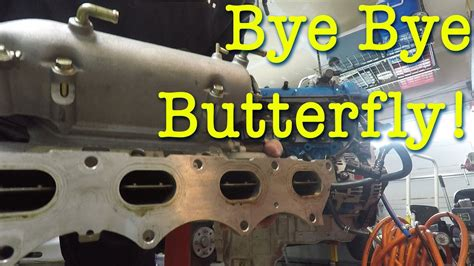 Removing The Butterfly From The Intake Manifold On The