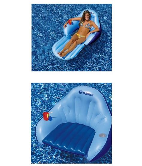 inflatable convertible chair float lounge lounger raft