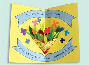 Mother's Day Pop-Up Card - How to make a pop-up card with ...