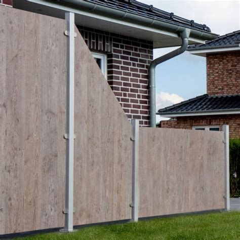 Sichtschutz Garten Kunststoff Holzoptik by Hpl Sichtschutzzaun Premium Holzoptik