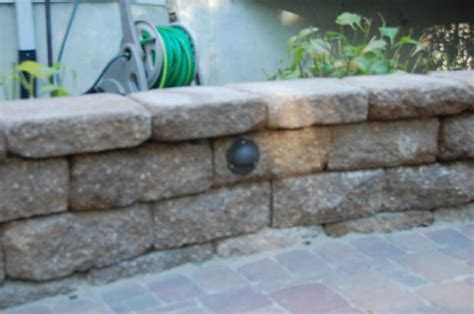 saw cut retaining wall block for flush mount lights is