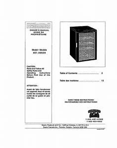 Kenmore Refrigerator 461 99609 User Guide
