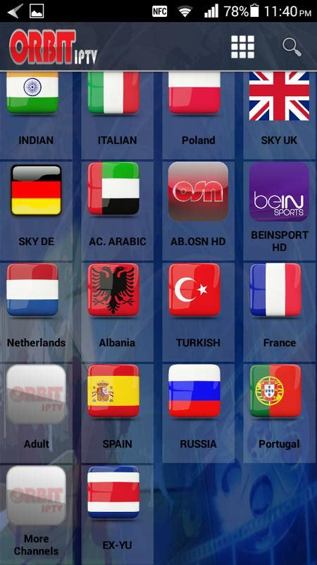 orbit iptv apk   entertainment app