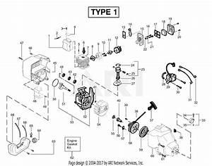 Poulan Featherlite Sst Le Gas Trimmer Type 1 Parts Diagram