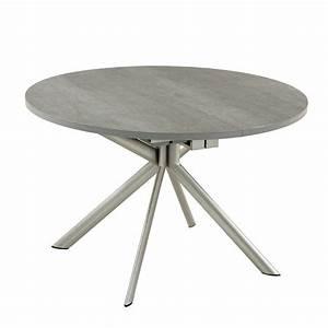 Tables Rondes Extensibles : table ronde extensible en c ramique giove 4 pieds tables chaises et tabourets ~ Teatrodelosmanantiales.com Idées de Décoration