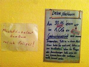 Nachbarn Schriftlich über Party Informieren : ein haus zwei zettel notes of berlin ~ Frokenaadalensverden.com Haus und Dekorationen
