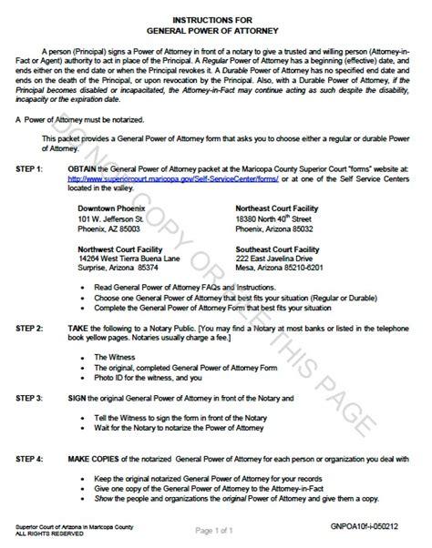 health care power of attorney form arizona free arizona durable general power of attorney form template