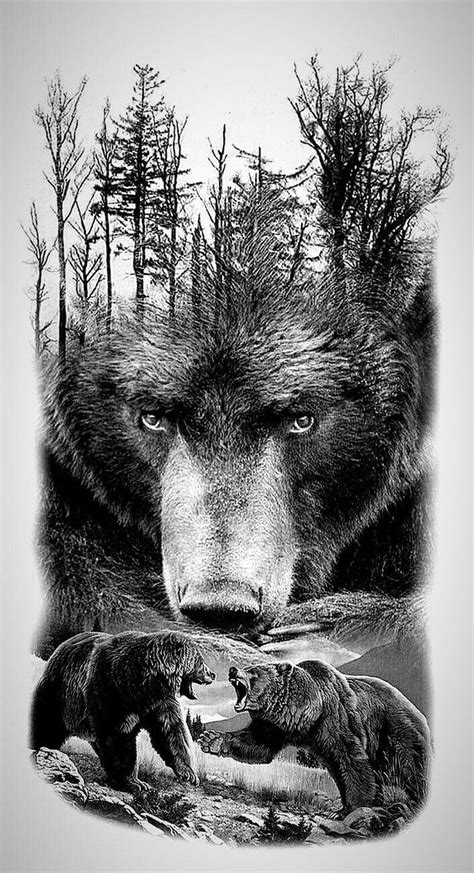 beautiful grizzly bear art grizzly bear tattoos bear tattoos bear tattoo designs