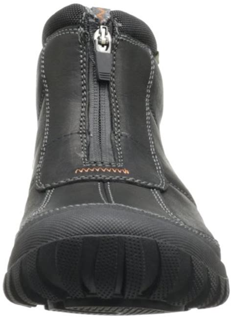 clarks mens archeo zip snow boot black leather     camping companion