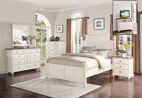 homelegance floresville bedroom set antique white