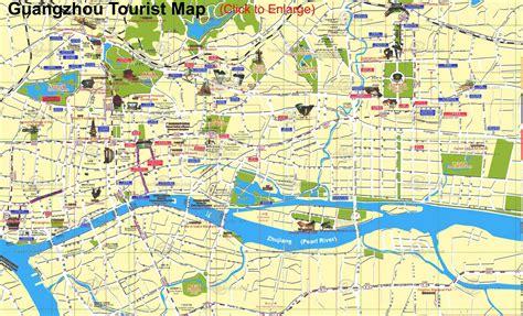guangzhou map city  china map  china city physical