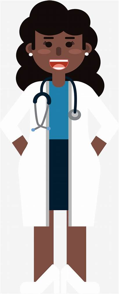 Doctor Clipart Woman Female Vector African Clip