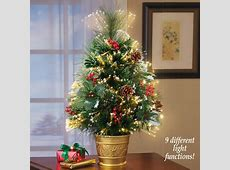Fiber Optic Pine Tabletop Christmas Tree From Collections