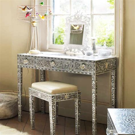 sofa table and stools maxi mother of pearl console table and stool dressing