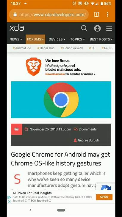 Chrome History Android Google Os Flag Update