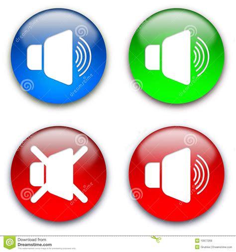Loud Speaker Mute Buttons Stock Illustration Illustration