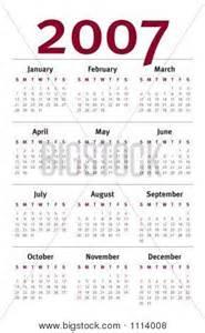 2007 Yearly Calendar Printable