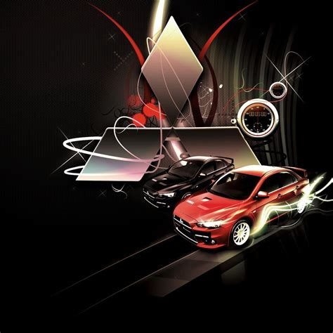 Mitsubishi Lancer Evolution Logo Ipad Wallpaper. #ipad