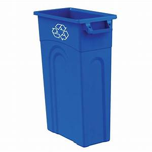 Shop Blue Hawk 23-Gallon Blue Recycling Bin at Lowes com