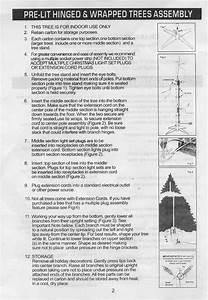 Artificial Tree Instructions