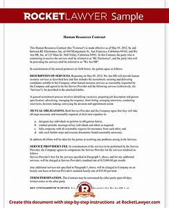 Human resources contract hr contract agreement form for Human resource forms and templates