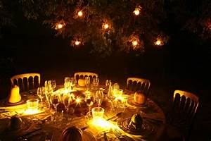 bonfire, autumn, dinner, party, illuminated, with, buttonlite, led, candle, flicker, lights