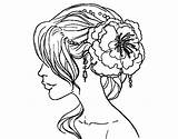 Coloring Hairstyle Flower Salon Dibuix Flowers Adult Hairstyles Printable Kitty Adults Per Haircut Getcolorings Colored Pintar Flor Registered User Coloringcrew sketch template