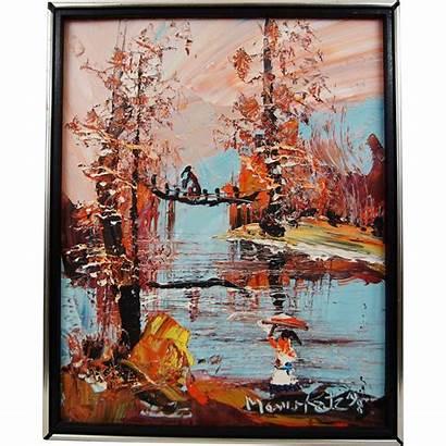 Katz Morris Painting Oil Painter Lake Board