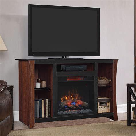 cherry media electric fireplace carlin electric fireplace media console in cherry