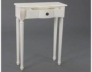 Petite Console Blanche : console entr e blanche 60 cm ou meuble entr e blanc avec tiroir ~ Teatrodelosmanantiales.com Idées de Décoration