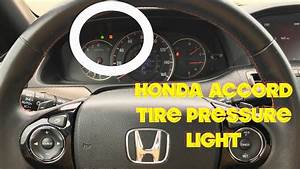 How To Turn Off Tire Pressure Light On A Honda Accord