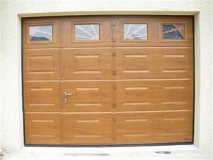 Porte De Garage Avec Portillon : portes de garage pose installation alproconcept grenobe ~ Melissatoandfro.com Idées de Décoration