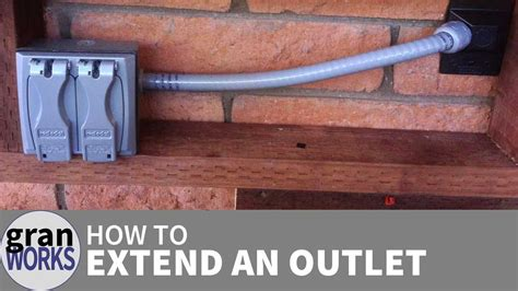 how to extend an electrical outlet youtube