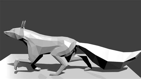 poly fox running animation  blender youtube