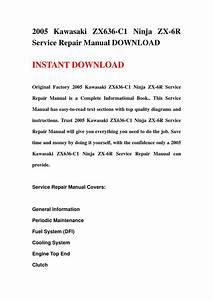 Kawasaki Zx6r 2005 Service Manual