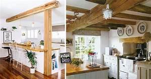 Cuisine Bois Et Blanc : combiner bois et blanc dans la cuisine voici 20 id es ~ Dailycaller-alerts.com Idées de Décoration