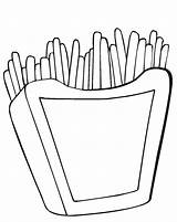 Fries Coloring French Pages Mcdonalds Printable Drawing Burger Hamburger Template Getcolorings Print Clipartmag Getdrawings sketch template